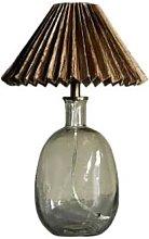 Abigail Ahern - Hue Glass Lamp Base With A Raffia