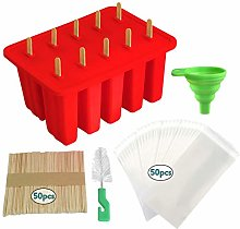 Abkshine 10 Cavities Ice Lolly Pop Moulds,Food