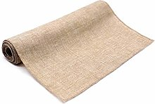 able cover 1Pcs Rustic Table Runner Natural