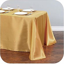 able cover 1Pcs Satin Tablecloth Modern Style Gold