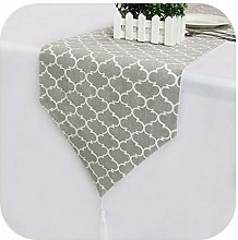 able cover Gray Vintage Linen Table Runner Classic