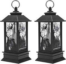 ABOOFAN 2pcs Simulation Kerosene Lamp Halloween
