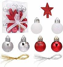 ABOOFAN 30pcs Mini Christmas Balls Ornaments And