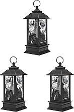 ABOOFAN 3pcs Simulation Kerosene Lamp Halloween