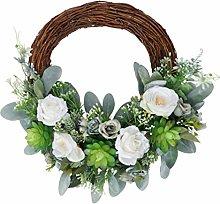 ABOOFAN Artificial Rattan Wreath Spring Easter