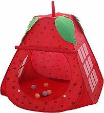 ABOOFAN Children Strawberry Tent Portable Kids