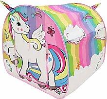 ABOOFAN Unicorn Play Tent Delicate Portable Tent