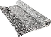 Abreeze Hand Woven Rug Gray&White Cotton Rug