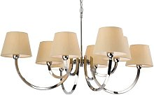 Abril 8-Light Shaded Chandelier Ophelia & Co.