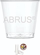 ABRUS- Disposable Plastic Shot Glass Pack of 50,