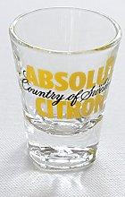 Absolut Citron Vodka Shot Glass (70ml), The Big