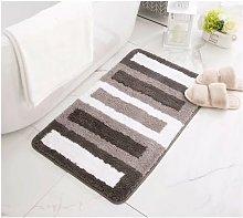 Absorbent Foot Carpet for Gray Bath Bath 60 * 90cm