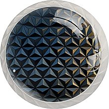 Abstract 3D Shadow Gold, Cabinet Knob Premium