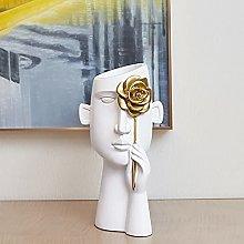 Abstract Art Human Head Vase, Home Craft Creative