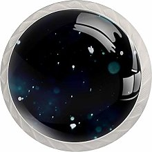 Abstract Bokeh Dark Round Cabinet Knobs 4pcs Knobs