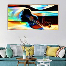 Abstract Canvas Print Painting Wall Art Headphones