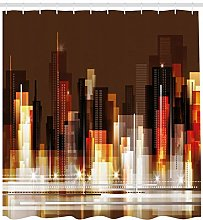 Abstract city downtown High-definition printed