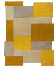 Abstract Collage Ochre Rug 150x240cm