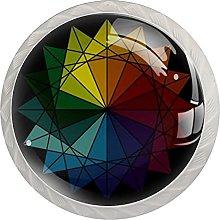 Abstract Colorful Circle, Modern Minimalist