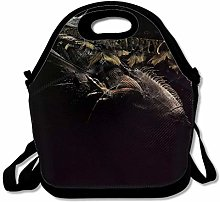 Abstract Dark Reusable Thermal Lunch Tote Bag