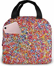 Abstract Everything Red Insulated Lunch Bag Cooler
