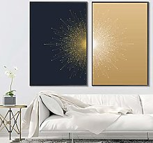 Abstract Explosion Dot Line Canvas Painting Modern