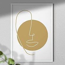 Abstract Face Art Print - Wall Art | Abstract Art