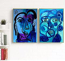 Abstract Face Picasso Art Canvas Art Print