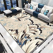 Abstract flower Multicoloured Cotton Rug for