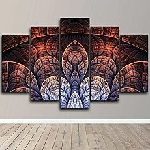 Abstract Fractal Design 5 Piece Poster Canvas