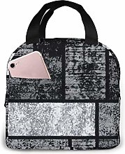 Abstract Gray Lunch Bag Tote Bag Lunch Box
