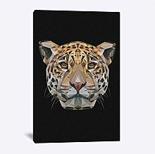 Abstract Jaguar Digital Art Modern Animal Poster