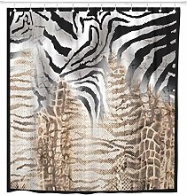 Abstract Leopard Zebra Pattern Silk Scarf