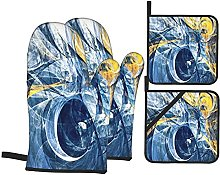 Abstract Modern Futuristic Dynamic Blue And Yellow