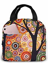 Abstract Modern Tree Lunch Bag Insulated Tote Bag