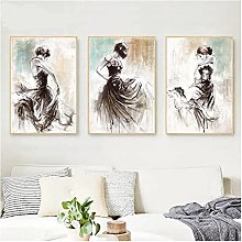 Abstract Oil Painting Dancing Girl Posters Print