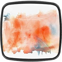 Abstract Orange 4pcs Colorful Crystal Glass