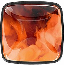 Abstract Orange Color Square Kitchen Cabinet Knobs