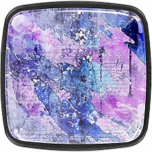 Abstract Painting 4pcs Colorful Crystal Glass