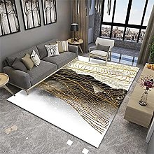 Abstract Rug Small Rugs And Mats Golden gray white