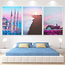 Abstract Seacape Canvas Painting print Wall art