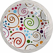 Abstract Seamless Pattern Drawer Knobs Pulls