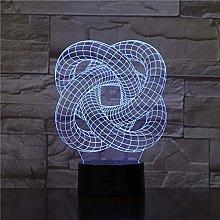Abstract Spiral Circle Night Light Table lamp