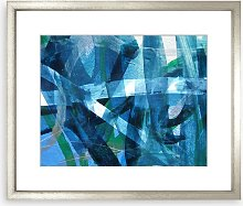 Abstract Statement Framed Print & Mount, 58 x