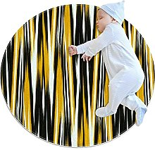 Abstract stripes, Round Area Rug Pattern Round