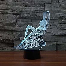 Abstract Sunbathroom Led 3D Table Lamp Creative