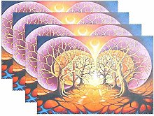 Abstract Tree of Life Placemats Painting Art