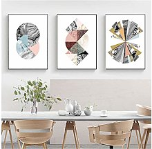 Abstract Watercolor Geometric Paintings on Canvas