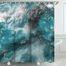 Abstract Watercolor Shower Curtain, Art Painting