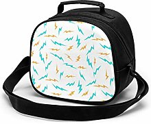 Abstract Yellow Green Lightning Insulated Lunch